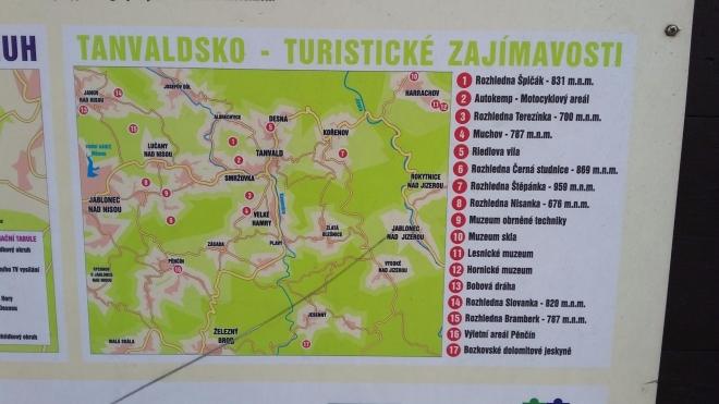 Tanvaldsko - turistické cíle.