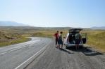 Sever provincie Syunik při hlavní silnici, Arménie