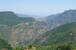 Kaňon řeky Vorotan u Tateva, Arménie