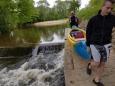 Přenášení na Lužnici je minimum, to je výhoda této řeky...