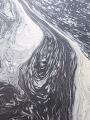 Abstrakty vodní pěny.