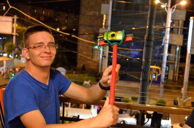 Jedna momentka z večera – domácí selfie tyč