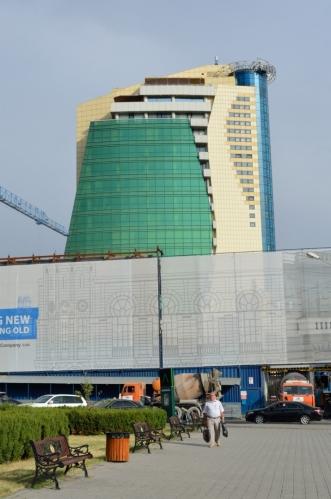 Moderní výstavba v centru