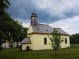 Kostel Jména Ježíš v Kříšťanově pochází z konce 18. stol. Jednolodní stavba s trojboce ukončeným presbytářem, sakristií a oratoří na severní straně. Nad západním průčelím se ze střechy zvedá dřevěná vížka.