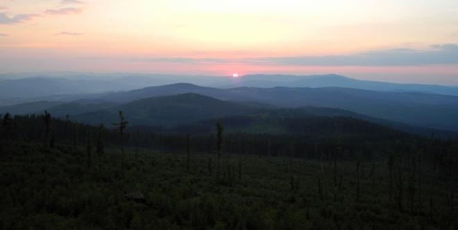 Západ slunce.
