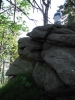 Vrchol Lysé tvoří skalní blok.