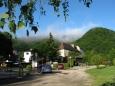 Ráno v kempu u řeky Le Doubs