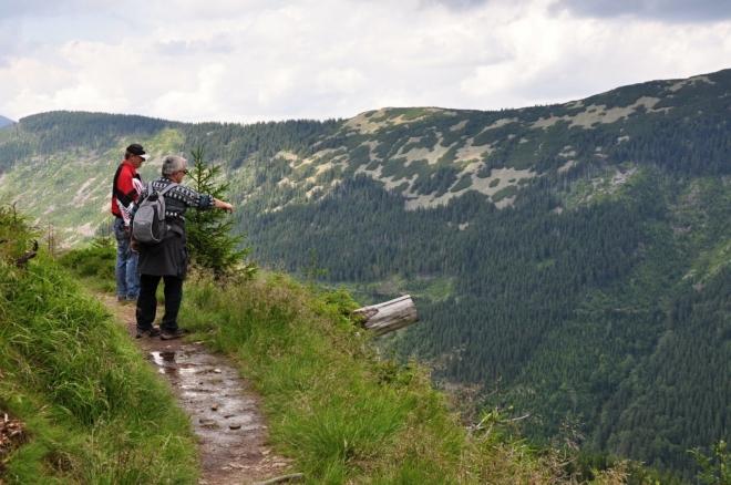 Expozice odhaluje impozantní pohled do Dlouhé doliny.