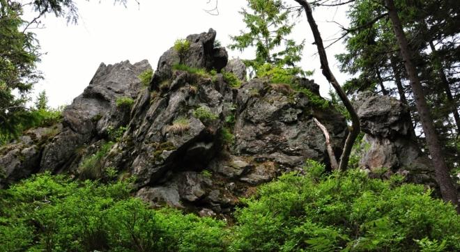 Černá skála (1 039 m n. m.).