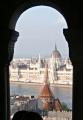 Výhled z hradu na Parlament