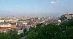 Panorama Budapeště z Budínu na Pešť