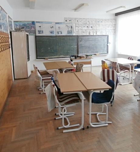 Jedna ze školních tříd