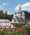 Dřevěný kostel poblíž Garde de Sus