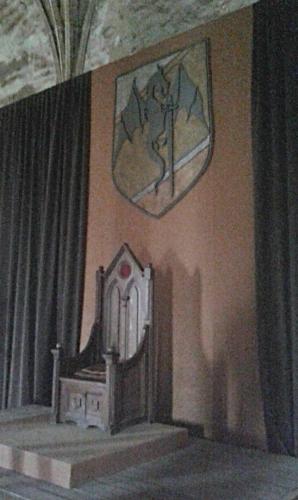 Interiér hradu Korvín