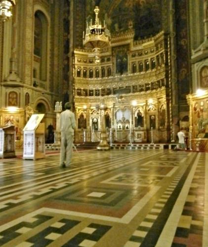 Interiér pravoslavné katedrály