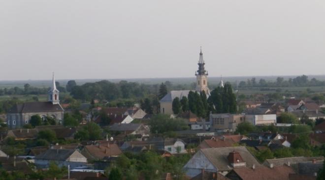 Výhled z věže na Nadlac