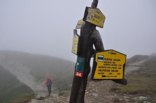 Jeden z dvou vrcholů Salatína. Tohle je ten pravý.