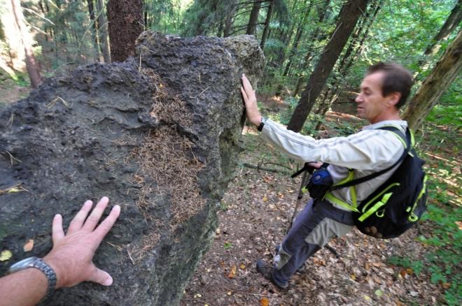 Vyvřelý kámen Lužického zlomu.