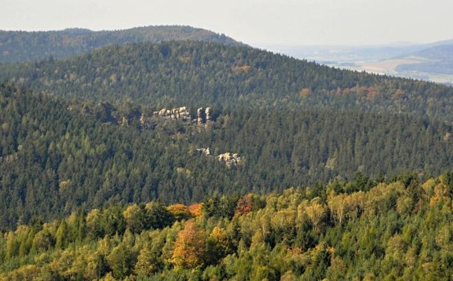 Skály Straßbergu - Liščí kazatelna.