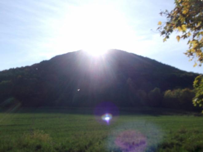 Lipská hora plná slunce.