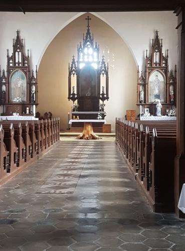 V kvildském kostele.