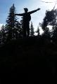 Kříž na vrcholu Vysokého Stolce.
