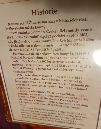 Hospoda U Žida má bohatou historii.