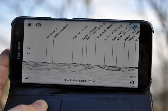 Identifikaci vrcholů pomohla tato sw aplikace.