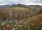 Pohled na Lhotu (571 m n. m.) a Lipskou horu.