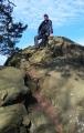 Na vrcholu Karlovy skály.