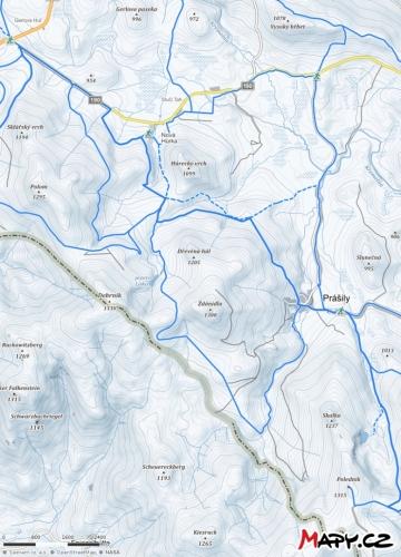 Mapka Prášily