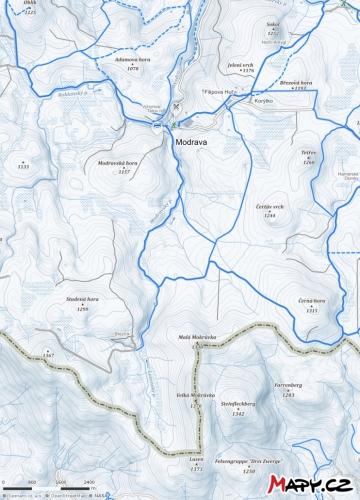 Mapka Březník