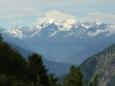Vlevo můžete vidět vrcholek Matterhornu