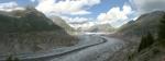 Panorama nejdelšího evropského Aletschského ledovce