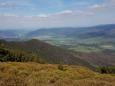 Pohled k Jeseníku od Červeného vrchu.