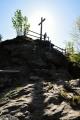 Rolandův kámen vyžaduje jen málo lezení.