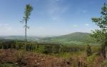 Výhled na Zlaté Hory a Biskupskou kupu.