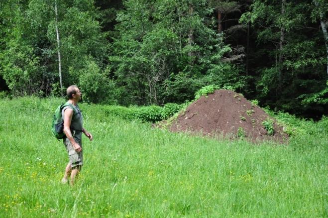 A obří mraveniště, kde žijí mravenci velikosti mužské dlaně. Alespoň to tak tvrdí Luděk.