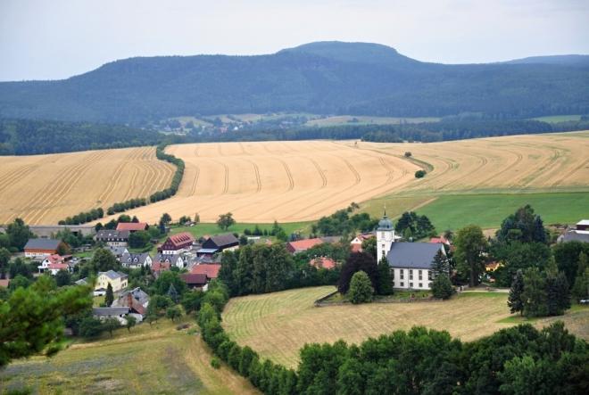 Kostel v Papstdorfu.