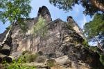 Pfaffenstein, vpravo věž Barbarine.