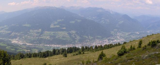 Pohled na Brixen cestou na Telegrapho.