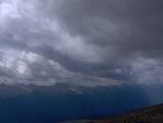 Počasí vždy vlídné nebylo, při výšlapu na Cimu Bocche se blížila bouřka.
