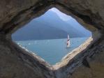 Orámované Lago di Garda.