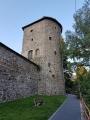 Strážní věž hradby.