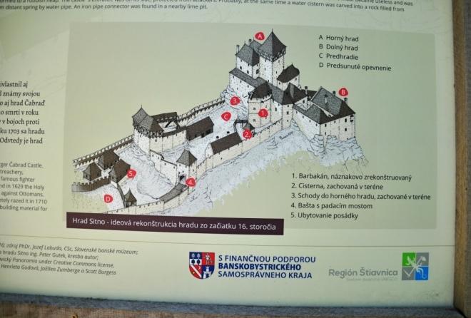 Hrad Sitno byl rozsáhlý.