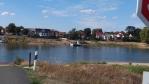 Přívoz-ferry v Rogatz, jediný který na mnou objetých asi 90 km Labe jezdil ...