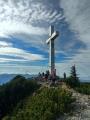 Na vrcholu Traunsteinu.
