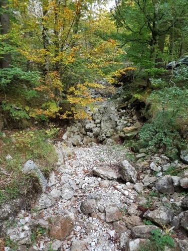 Říčka Lainaubach nejsou po vodě ani stopy.