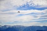 Nad hlavami nám přeletí malé letadlo a později i vrtulník.
