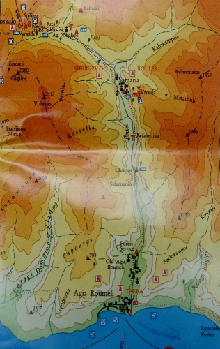 Mapka, kterou jsme měli k dispozici, nám dávala jasnou představu o délce trasy.